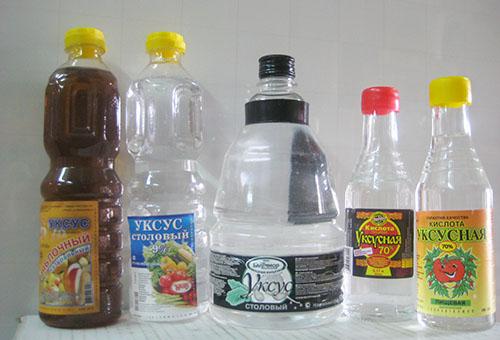 Уксус в бутылках