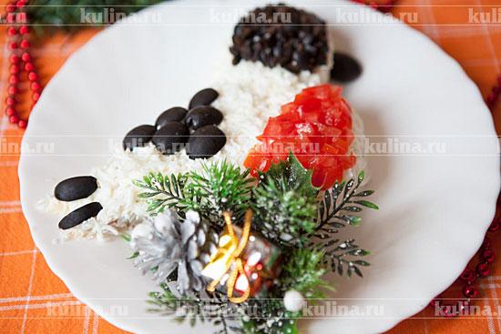 """Салат с семгой """"Снегирь"""""""