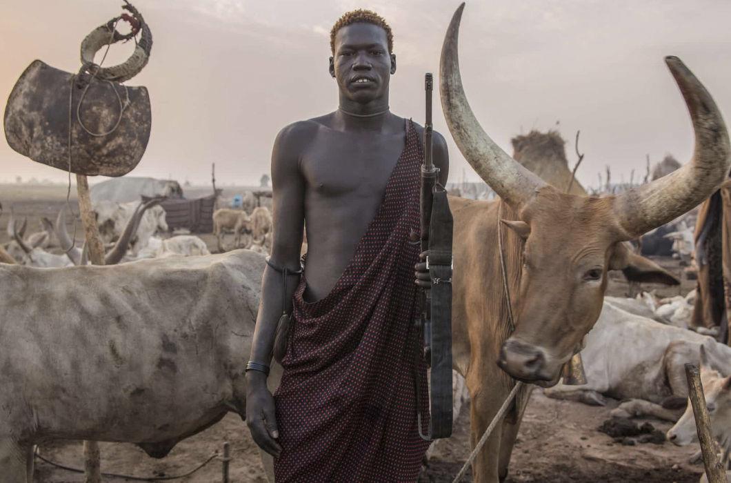Самобытное племя Динка из Южного Судана