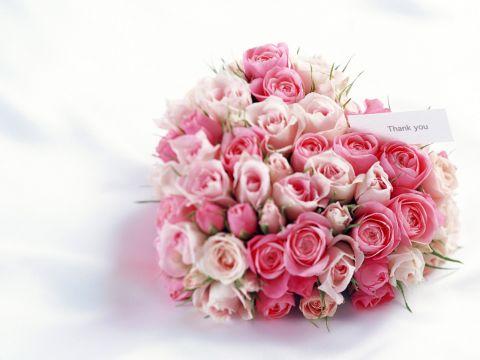Сердце из букета роз