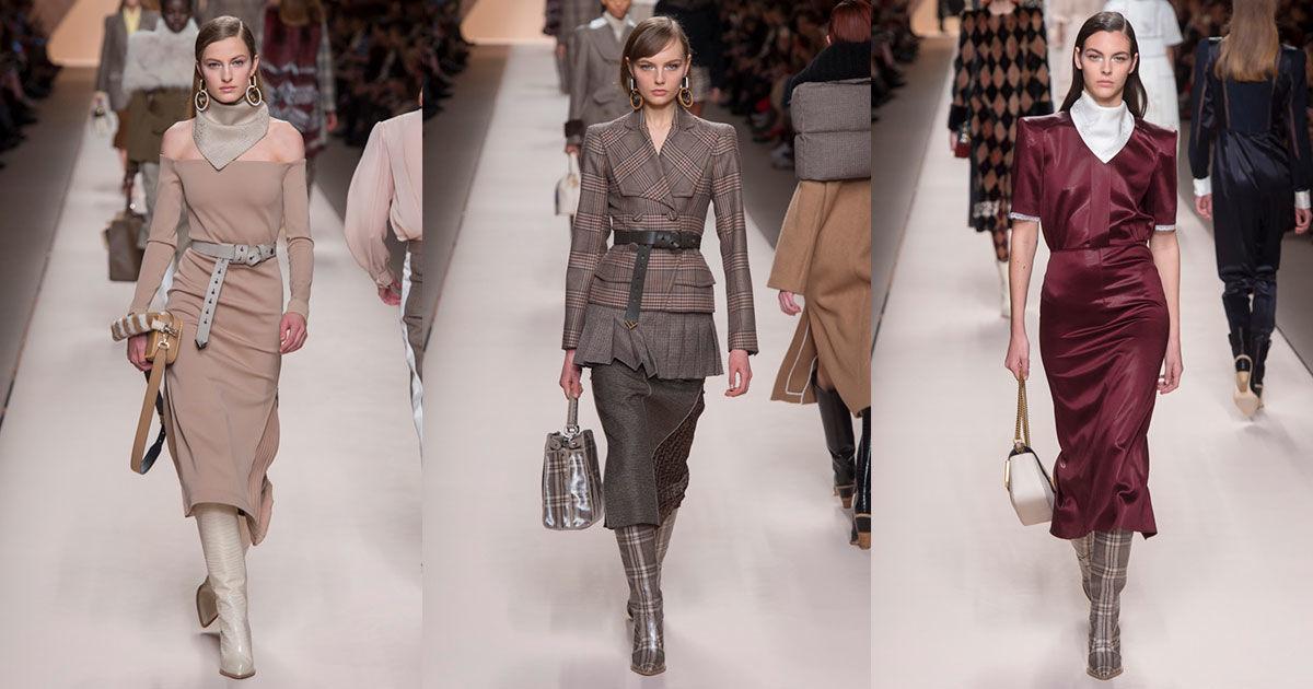 Коллекция Fendi осень-зима 2018-2019: возвращение к 80-м на Неделе моды в Милане