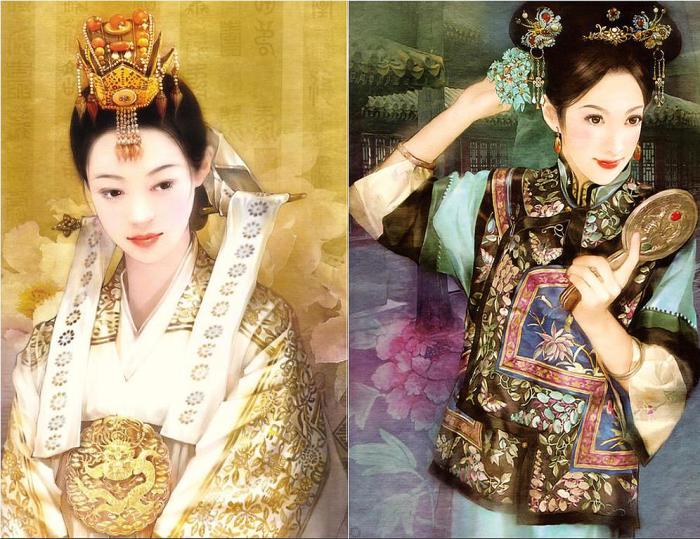Утончённо-экзотическая живопись: изумительно прекрасные портреты китаянок в работах тайваньской художницы