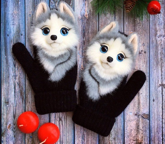 Варежечки с животными)