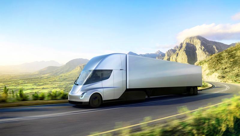 В сети появилось первое видео разгона молниеносного грузовика от Tesla