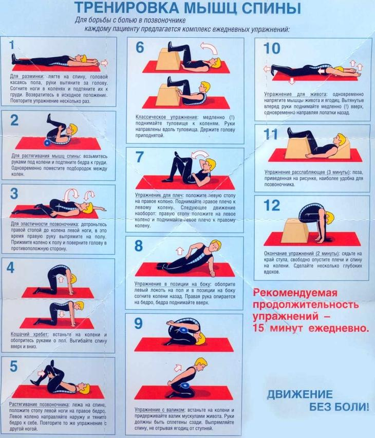 Растяжка спины и позвоночника - упражнения
