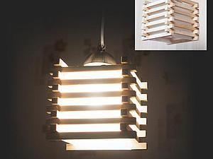Простой деревянный светильни…