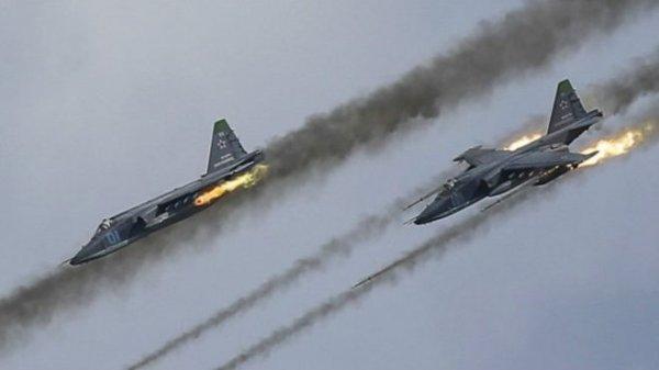 ВКС России уничтожили огромную колонну ИГИЛ в Сирии — впечатляющие кадры