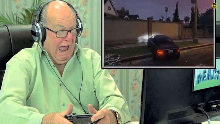 Пожилые люди играют в GTA V