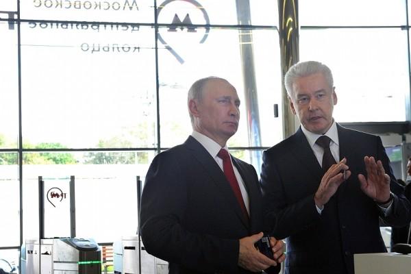 Президент РФ проехал по построенному ко дню города МЦК