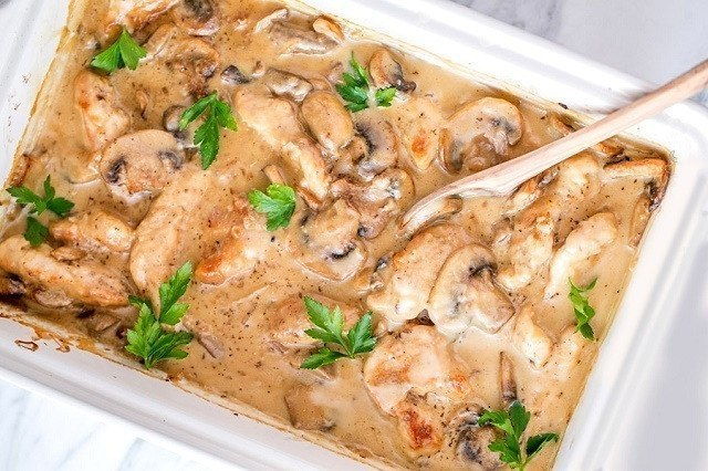 Куриное филе с грибами в соусе: идеально к ужину!