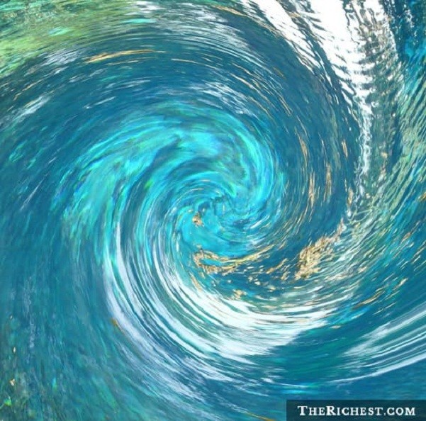Подводные водовороты море, океан, ужасы