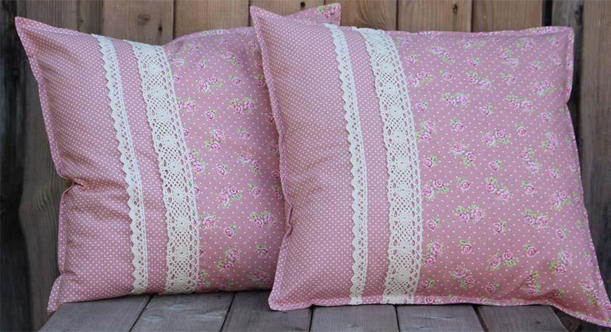 оригинальные подушки шебби шик