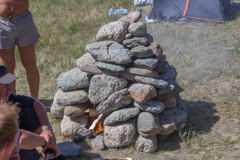 Каменка для походной бани алтай, путешествия, россия, укок, фото