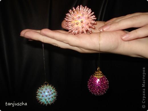 Мастер-класс Новый год Ёлочные игрушки Пайетки Пенопласт фото 6
