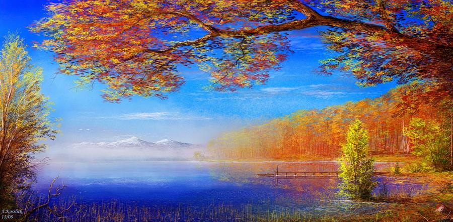 Художник рисует осень... Завораживающие пейзажи Andre Kosslick