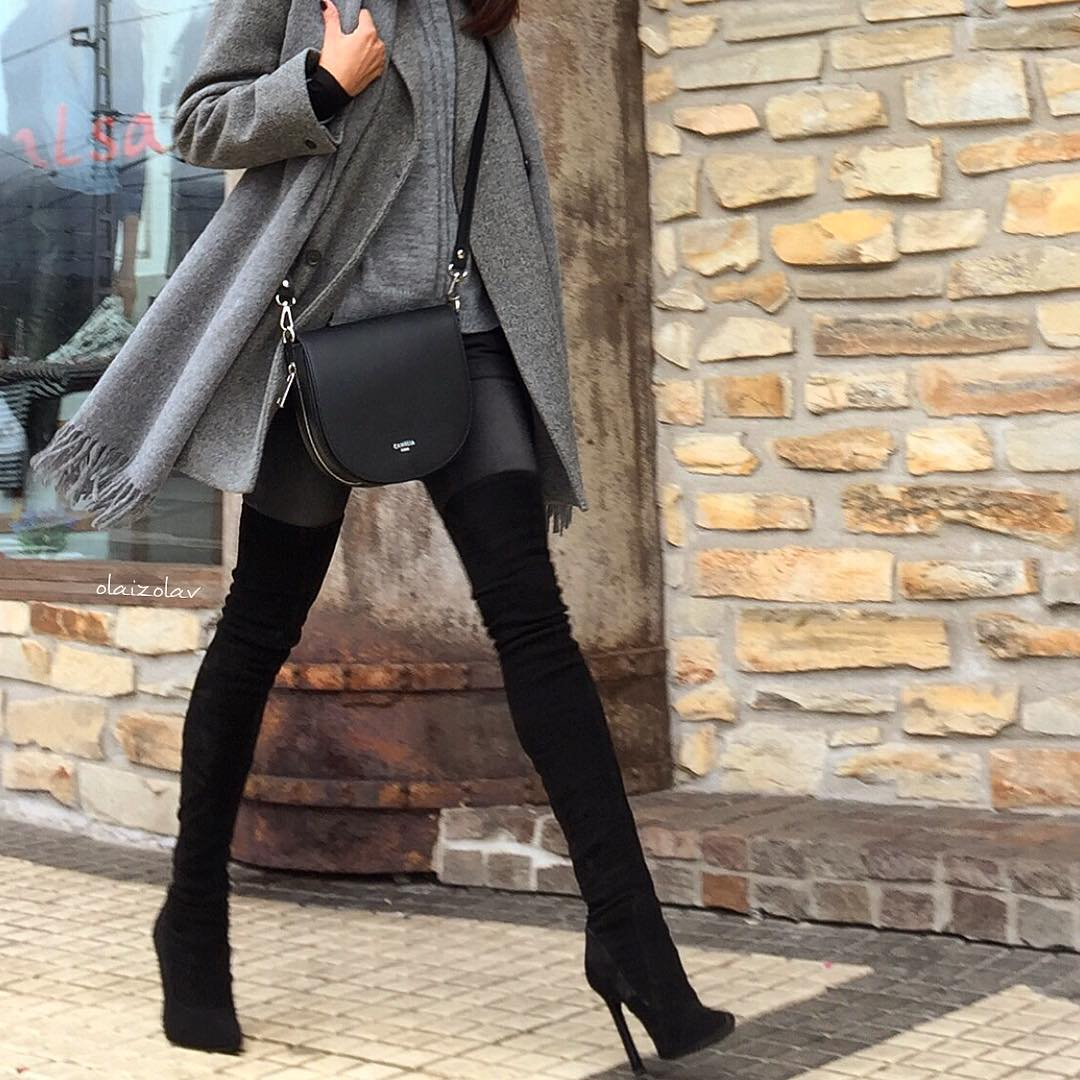 С чем носить объёмное пальто: 10 модных образов