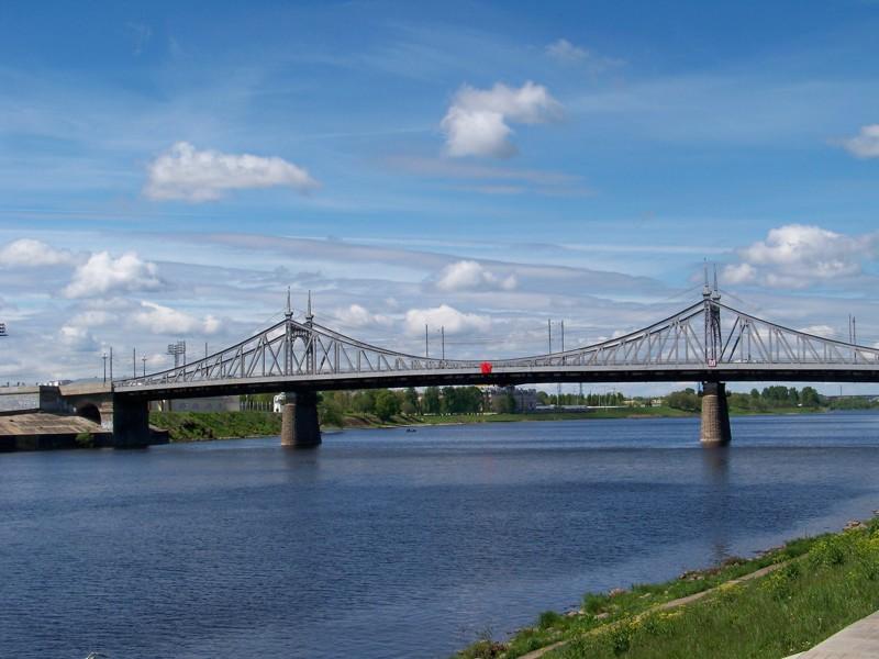 Старый Волжский мост Города России, Тверская область, красивые места, пейзажи, путешествия, россия, тверь