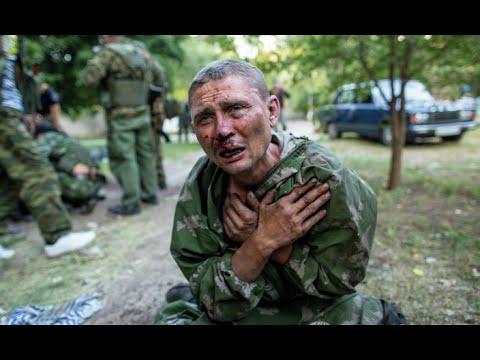 Военнопленный в Шахтерске, ополченцы взяли в плен солдатов нацгвардии украины