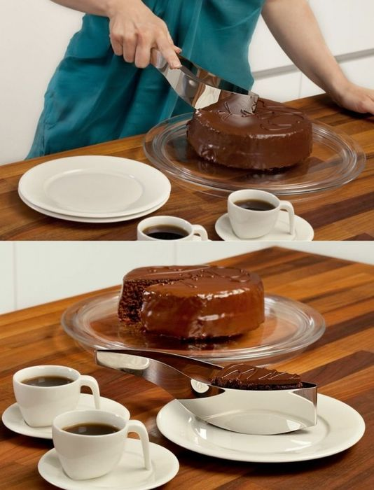 Чтобы красиво нарезать торт