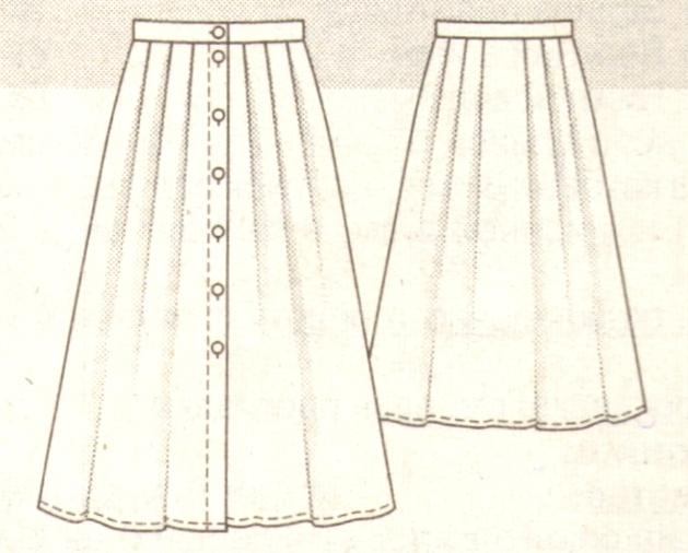 Летняя юбка на пуговицах спереди выкройка
