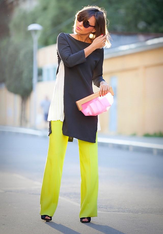 Фото брюки с платьем