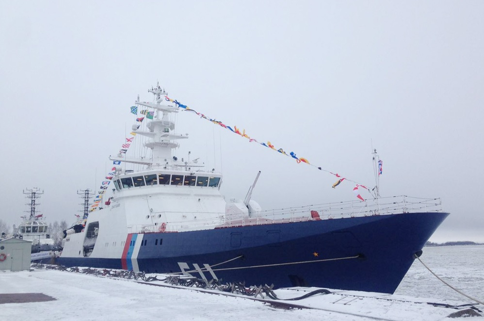 """Поднят флаг на пограничном сторожевом корабле """"Полярная Звезда"""""""