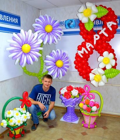 Вот какую красоту изобретает из простых воздушных шариков  Анатолий Шевченко! Браво мастеру!!!