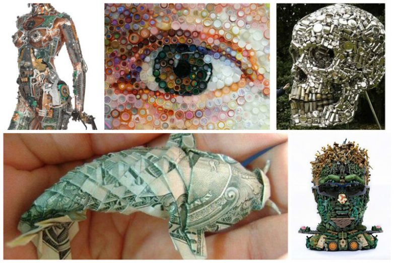 Неожиданно — произведения искусства из подручных материалов