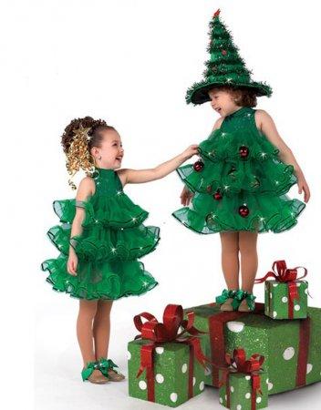 Идеи и мастер класс по изготовлению детского новогоднего костюма в виде елки
