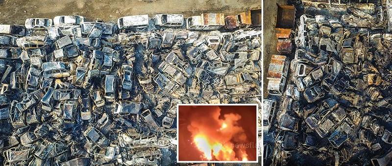 Тысячи машин сгорели на стоянке