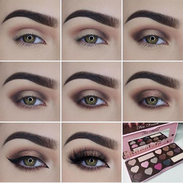 Как зрительно увеличить глаза при помощи макияжа с