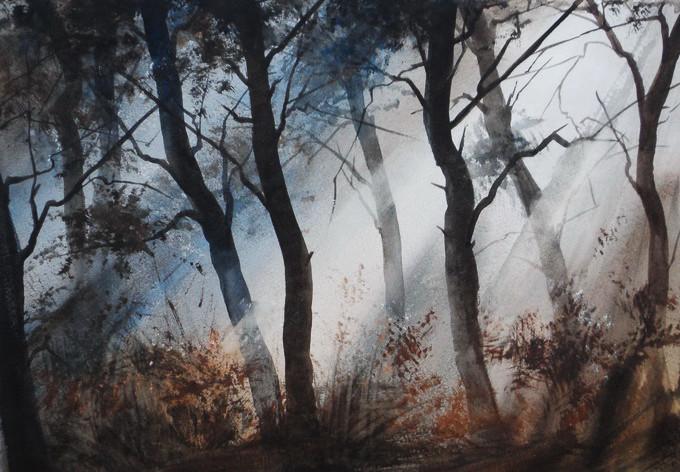 Мастер невероятных туманных пейзажев — Илья Ибряев. Акварели