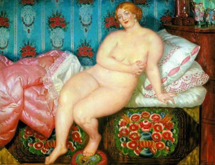 Народный идеал красоты: пышнотелые русские красавицы на картинах Бориса Кустодиева