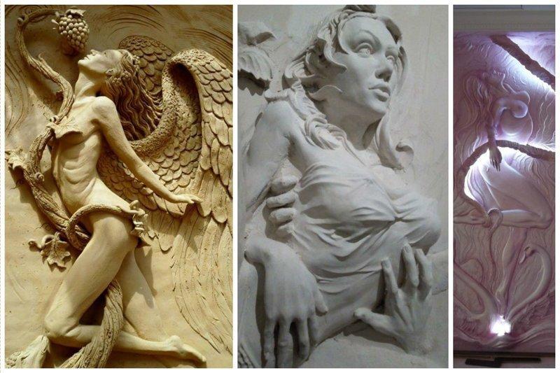 Фантастическая лепнина и барельефы Фабрика идей, искусство, красота, лепка, ремонт, стены