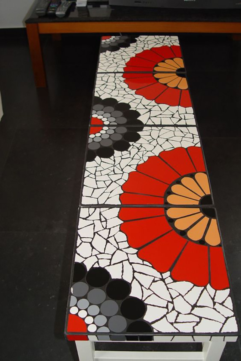 мозаика из битой плитки мастер класс