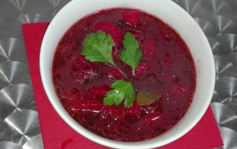 Свекольный суп диетический