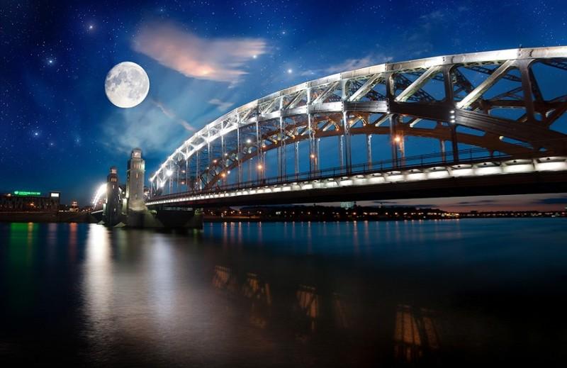 Большеохтинский мост мост, мосты спб, россия, санкт-петербург, спб!, фишки-мышки, фото, фотография