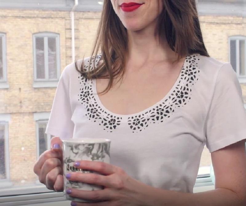 Как переделать футболку в блузу
