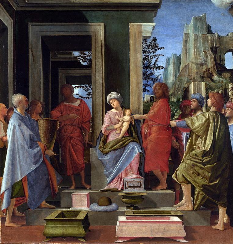 Брамантино - Поклонение волхвов. Национальная галерея, Часть 1