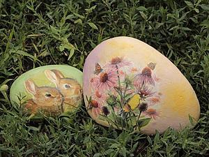 Декупаж Камней. Идея декора для сада | Ярмарка Мастеров - ручная работа, handmade