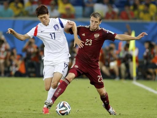 Сборная России сыграла вничью с Южной Кореей на старте чемпионата мира