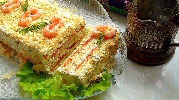 Рыбный торт: 10 сытных рецептов