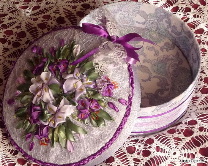 Шикарно — вышитые цветами шкатулки Татьяны Вацковой