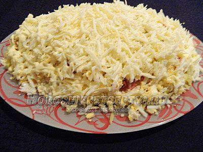Салат невеста с копченой грудкой рецепт с