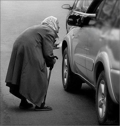 Очень больно смотреть на наших пенсионеров...
