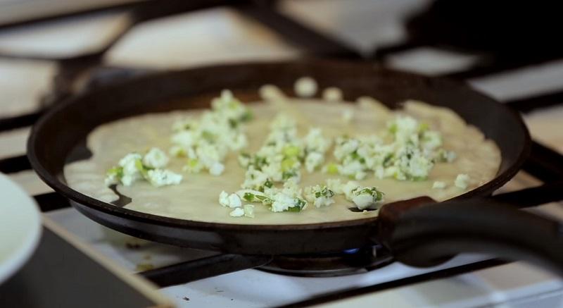 блины с припеком сыр