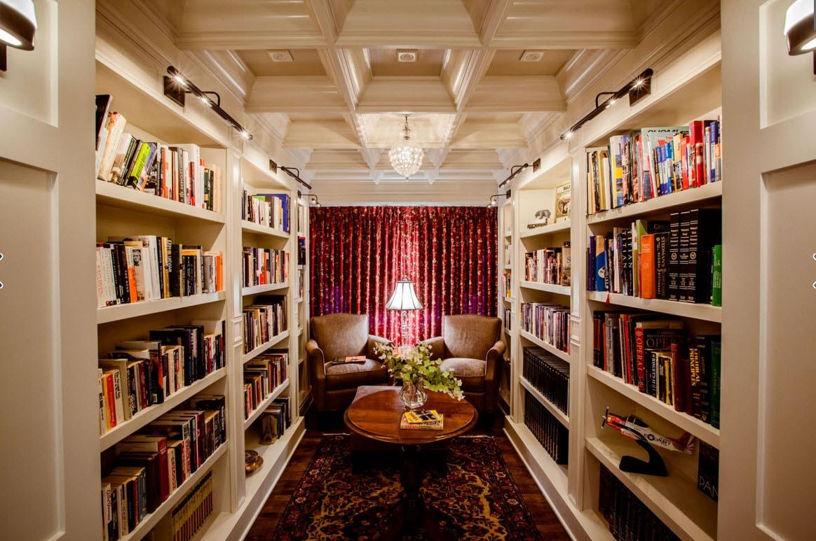 Помещение с книжными шкафами