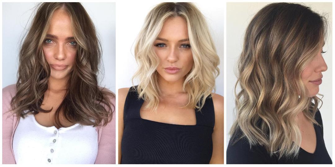9 шикарных и простых причесок на средние волосы для круглого лица