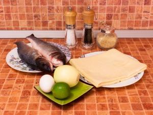Рыба, запеченная в слоеном тесте. Ингредиенты