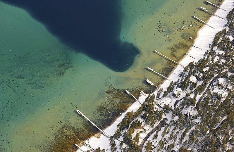 Озеро Тахо зимой америка, вид, высота, мир, пейзаж, природа, фотография
